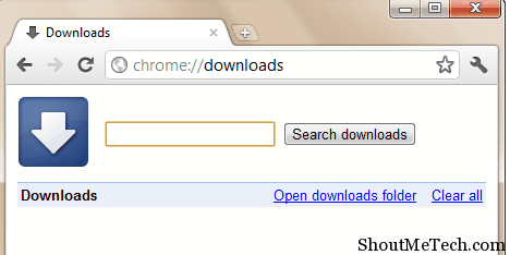 Google chrome download manager