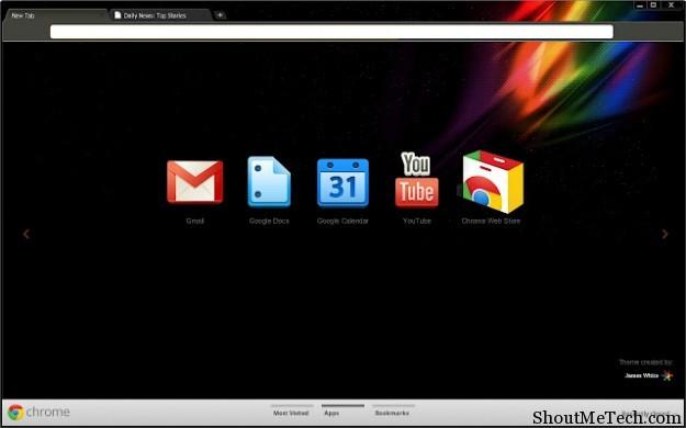 James White theme for Chrome
