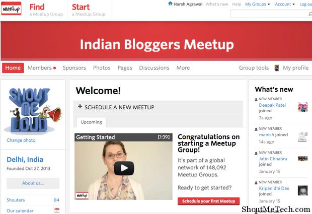 meetup social networking