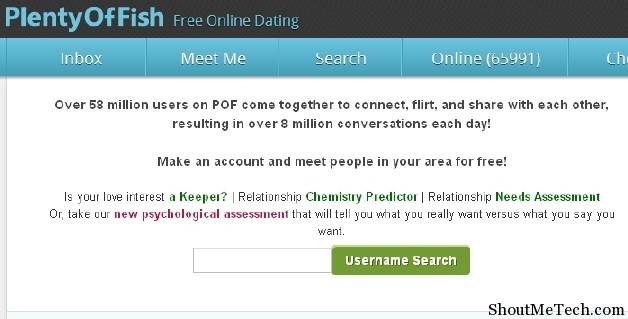 Plenty of fish dating site