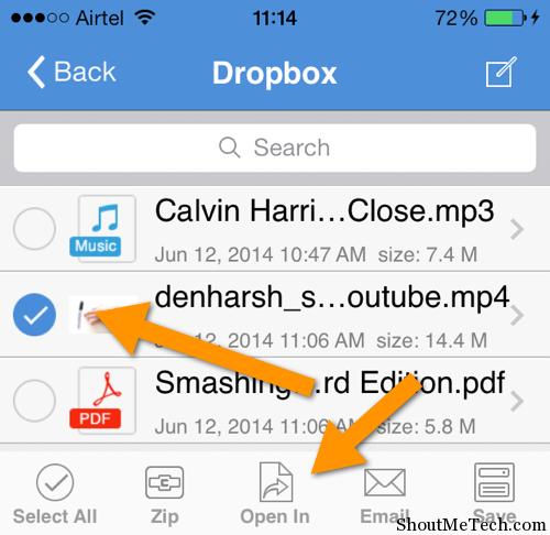 Send video file