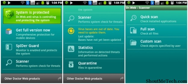 Dr. Web Antivirus app