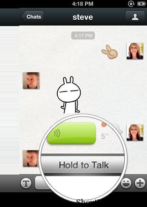 Wechat hold to talk