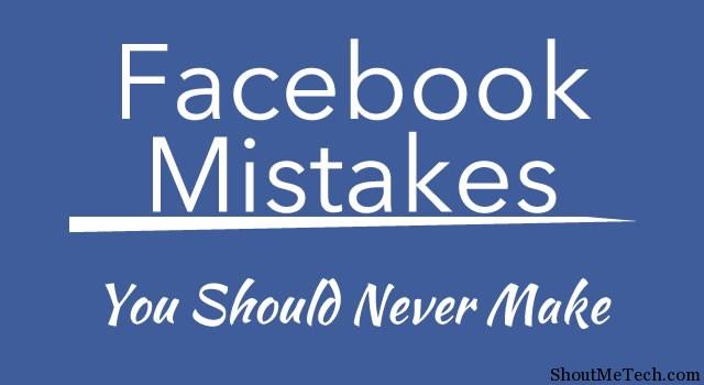 Avoid These Facebook Mistakes
