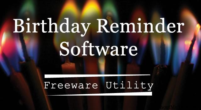 Birthday Reminder Software