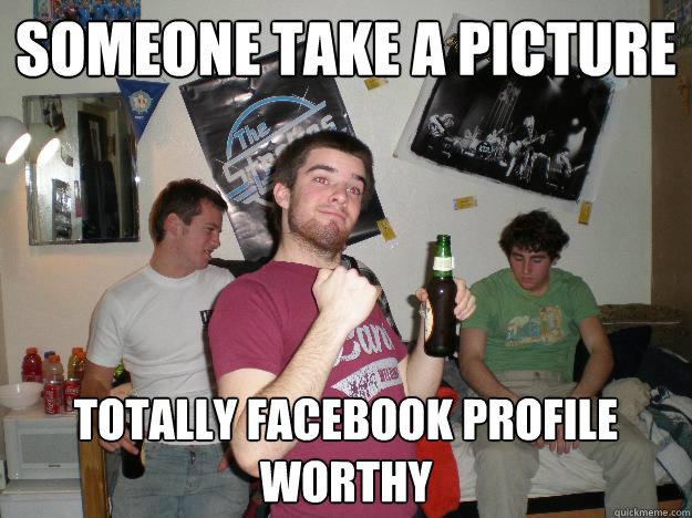 Drunk facebook status
