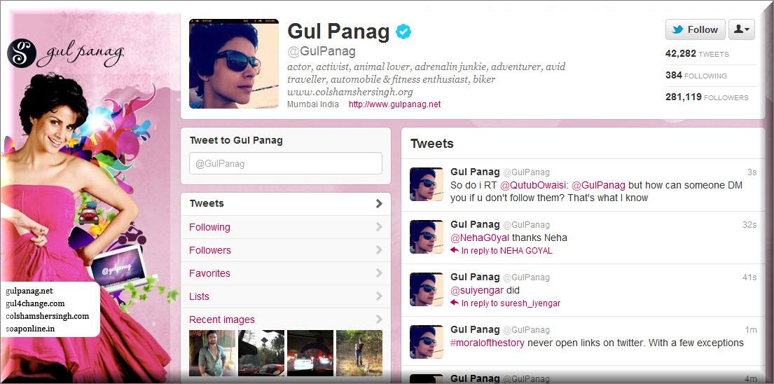 Gul Panag Twitter