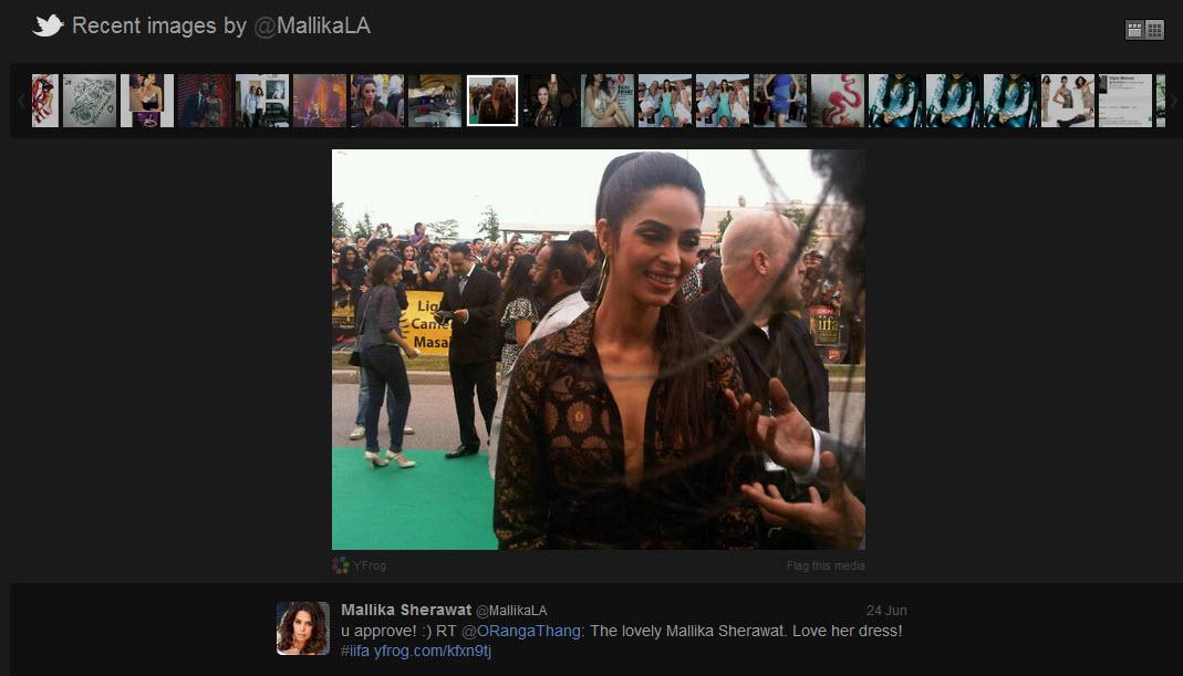 Mallika Sherawat Twitter Profile