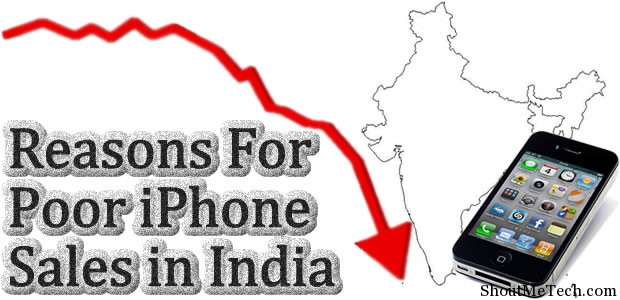 Poor iPhone sales in India