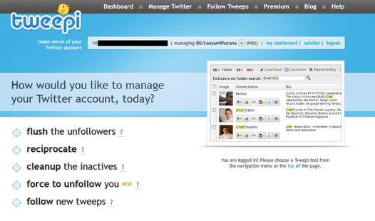 Tweepi Twitter Tool to Unfollow Non-Followers