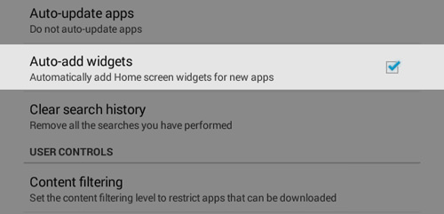 Auto Add-Widgets