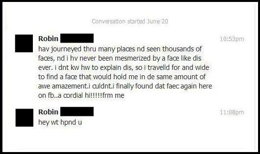 funny Facebook message