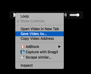 Right click save video as