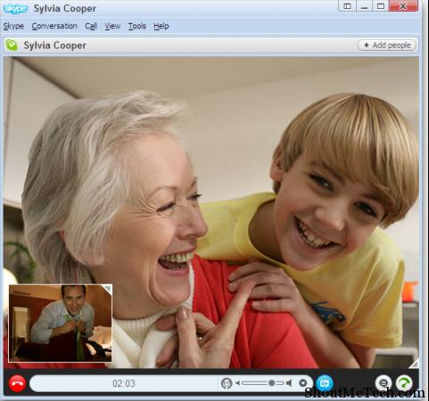 image Me chatting on skype 20130217