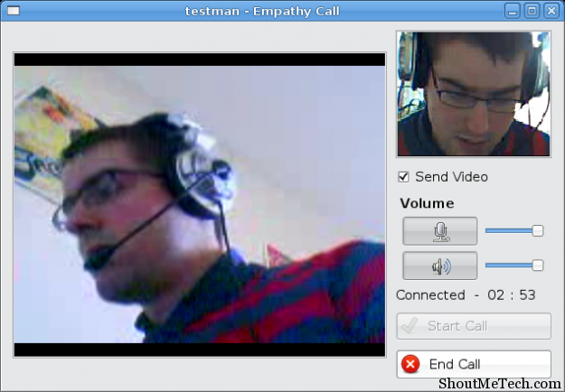 Empathy Linux Video chat Software