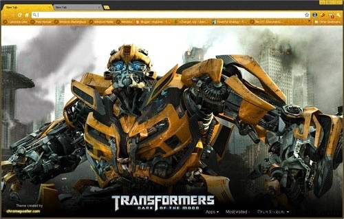 Transformers theme for Chrome