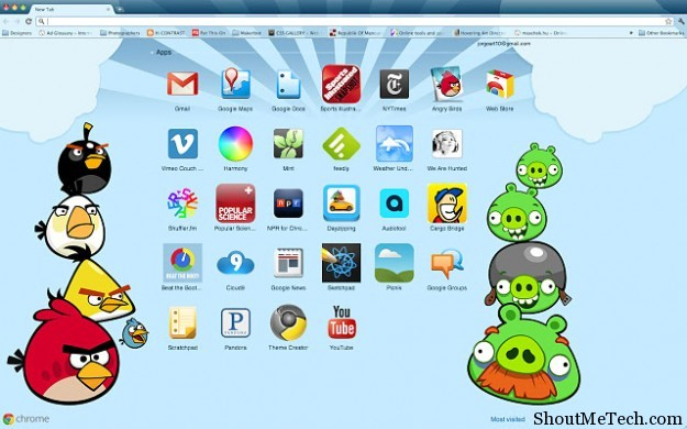 Angry Birds Chrome Theme