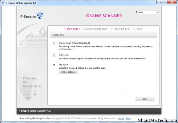 F Secure Online Scanner