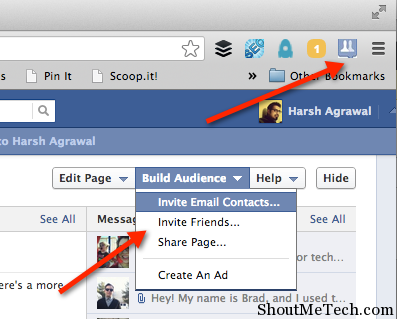 Facebook invite all extension