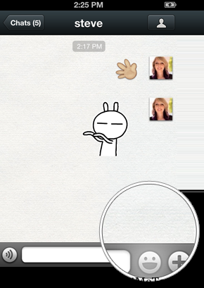 We chat emoticons