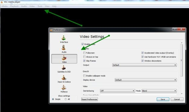 VLC Setting