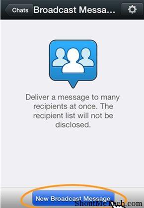 WeChat Broadcast messages