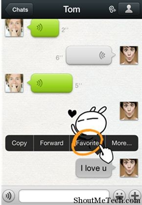 WeChat favorite message