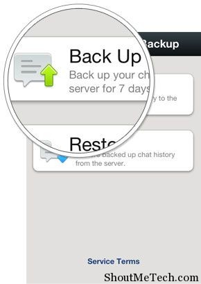 Wechat chat history backup