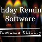 Birthday Reminder Software : Freeware Utility