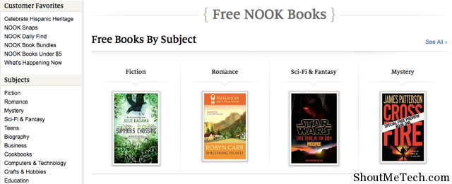 Free Nook Book Barnes and Nobles