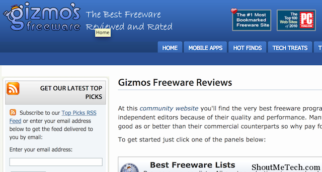 Gizmo's freeware