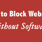 How to Block Websites Without Software