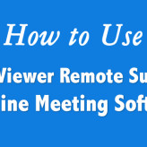 How to Use TeamViewer Remote Support & Online Meeting Software