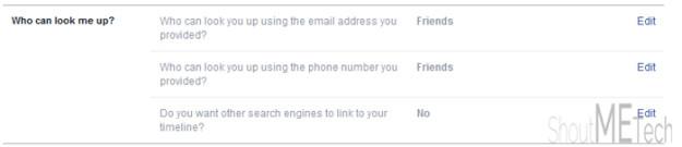 Hide Facebook Account