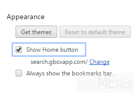 Chrome home button