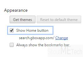 Chrome home button