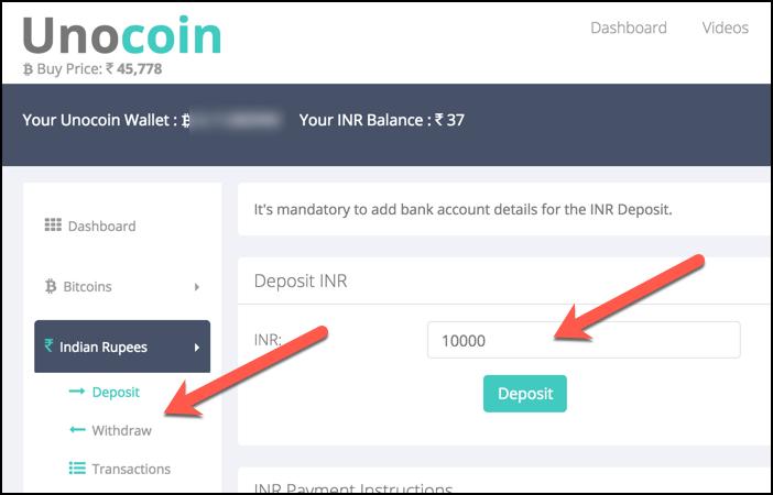 Buy Bitcoin in Indian Rupee